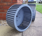 Multivane Clean Air Fan for Spray booth